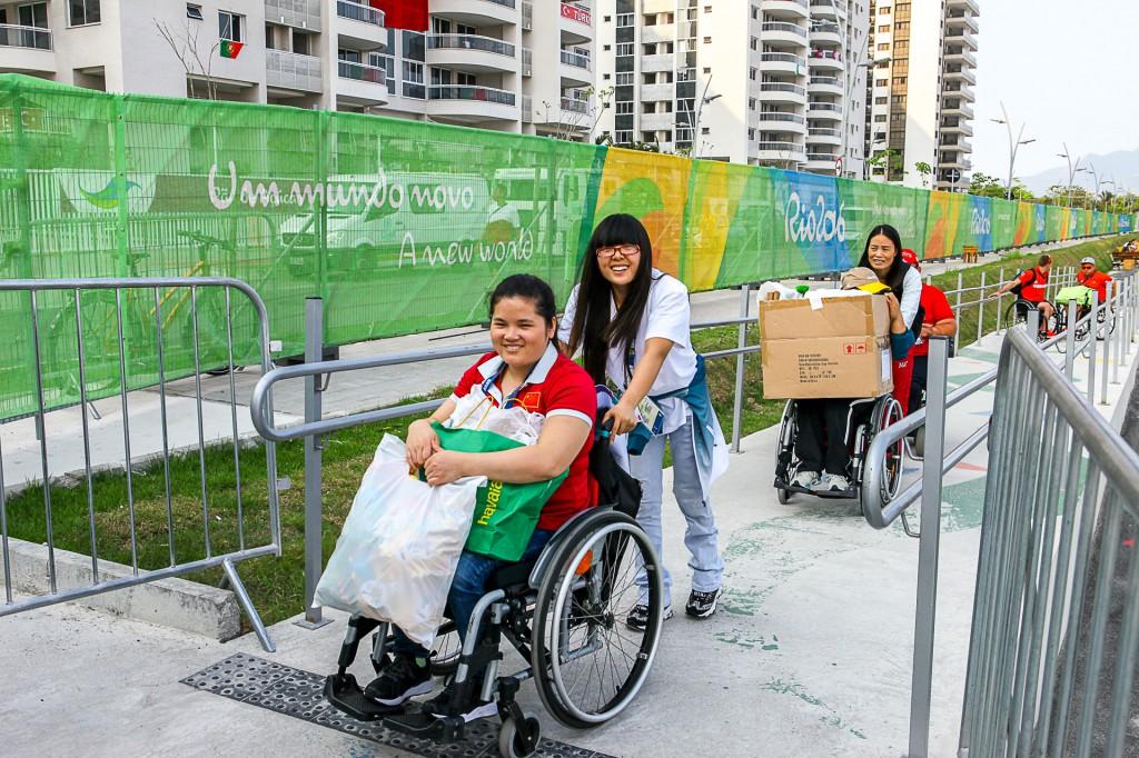 Day life of Paralimpic Athlete Village during Rio2016. Brasil